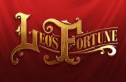Leo logo red background